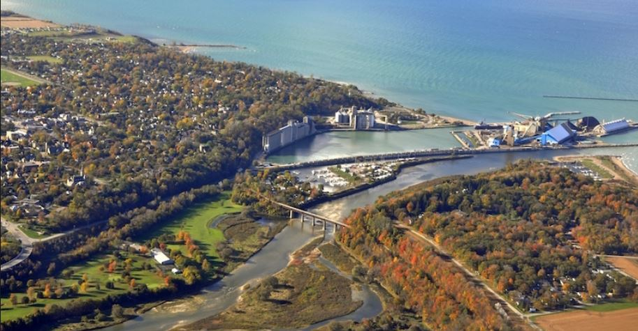 Aerial view of Goderich