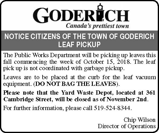 Yard Waste and Leaf Pick-up Signal Star Ad