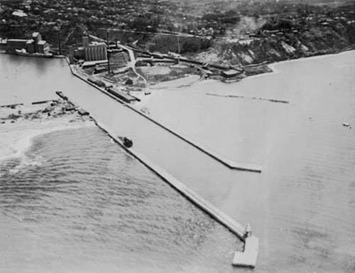 1919 Canada Company Piers south of New Harbour Entrance Piers