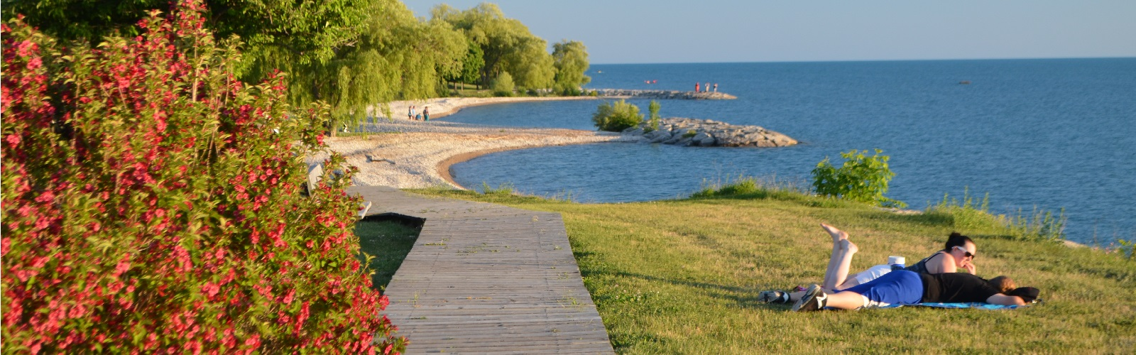 goderich beach front and boardwalk
