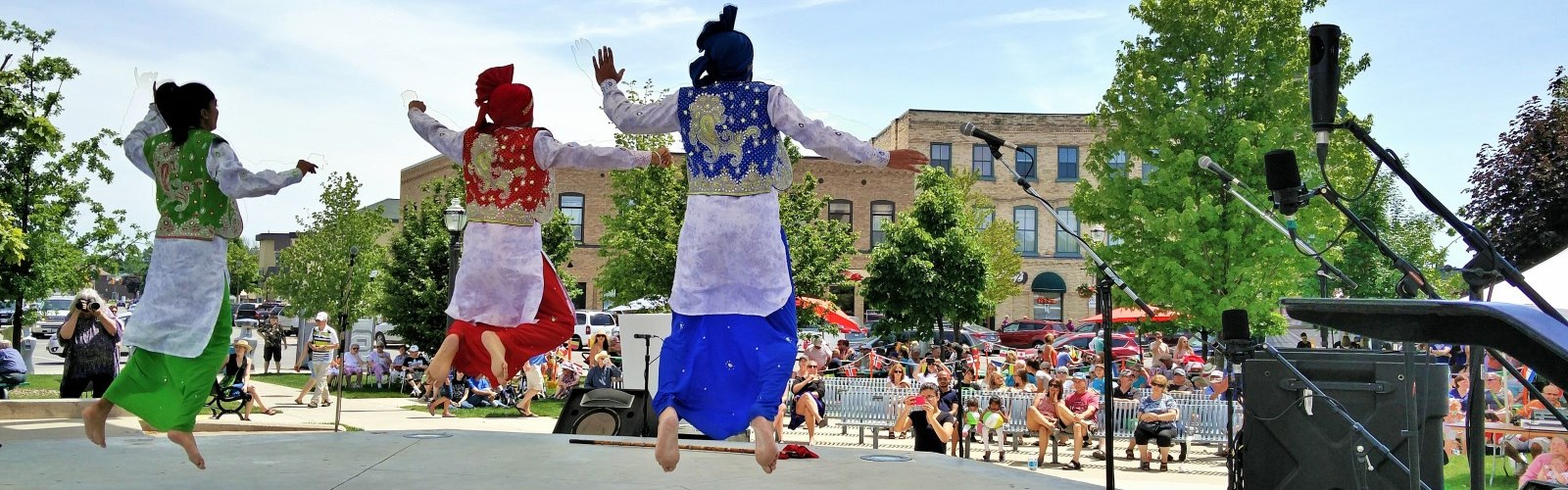 Dancers at the Huron Multicultural Festival